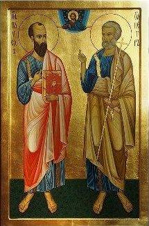 В четверг, 12 июля (29 июня с.с.) мы славим cвятых, славных и всехвальных, и первоверховных апостолов Петра и Павла...